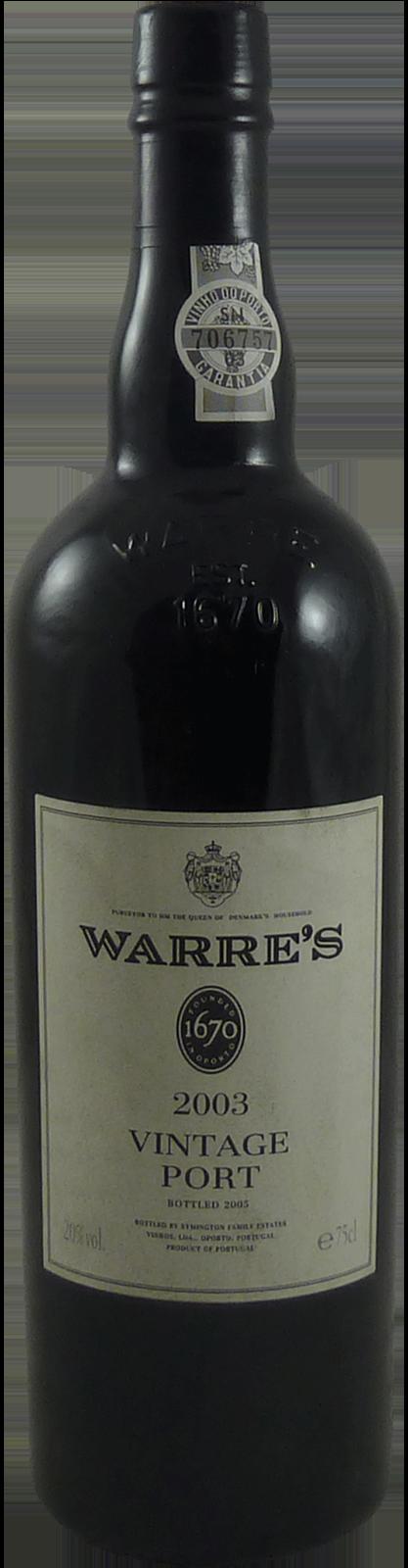 2003-Warre's Vintage Port