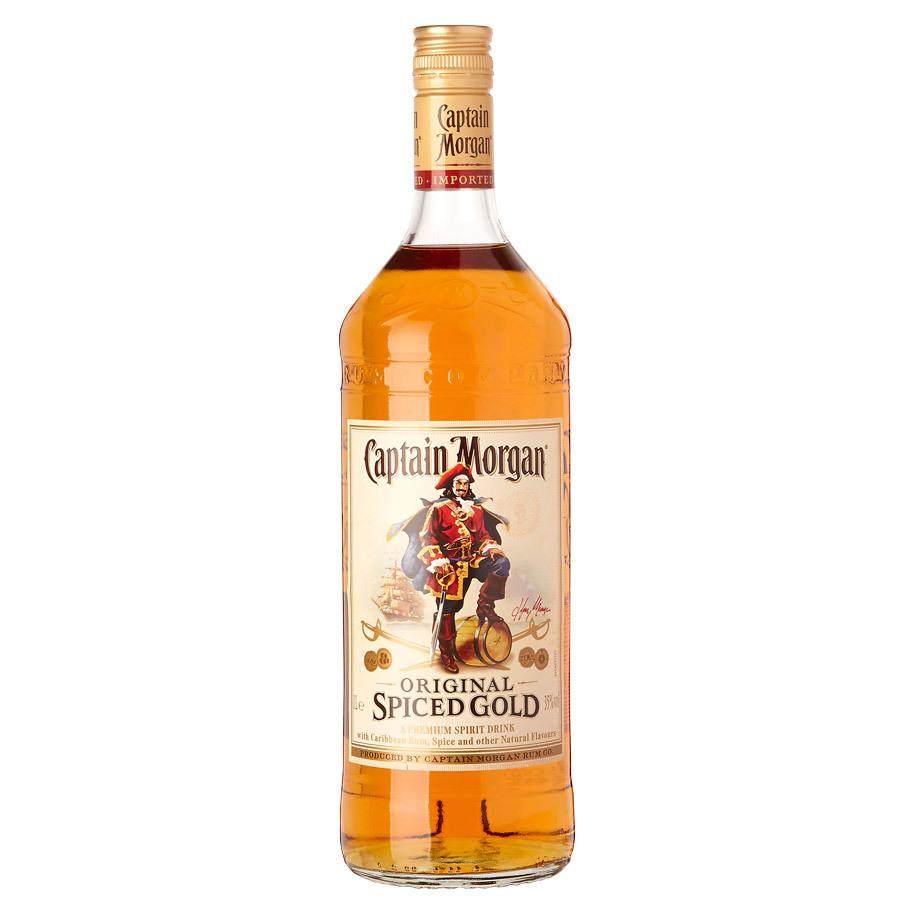 NV-Captain Morgan Rum Black Spiced Liter