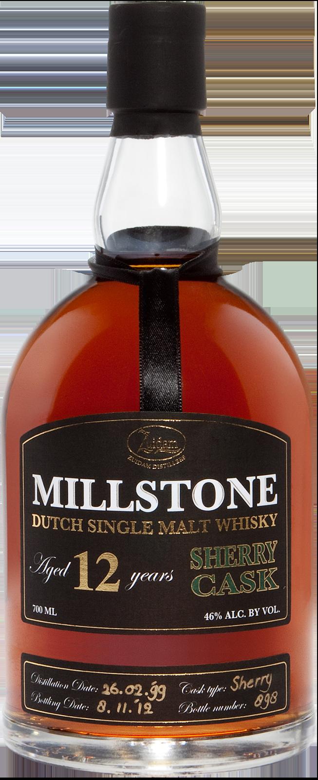NV-Millstone Dutch Whisky 12 Years Sherry Cask