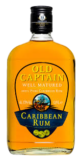 NV-Old Captain Rum Halve Fles