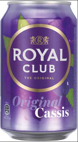 NV-Royal Club Cassis Blik 0,33 cl (los)